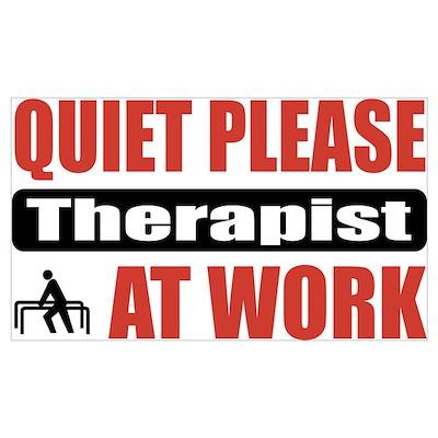 Therapist Work Poster
