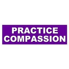 compassion... Bumper Bumper Sticker