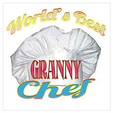 World's Best Granny / Chef Poster