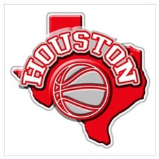 Houston Basketball Poster