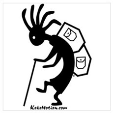 Kokopelli Backpacker Poster