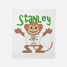 Little Monkey Stanley Throw Blanket