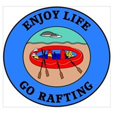 Enjoy Life Go Rafting Framed Print