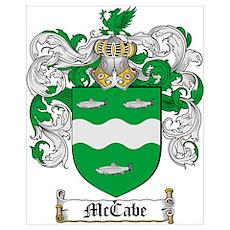 McCabe Family Crest Poster