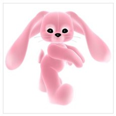 Pink Bunny - Baby Steps Canvas Art