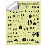 Animal tracks Wall Decals