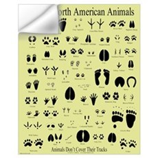 Small Animal Tracks Wall Decal