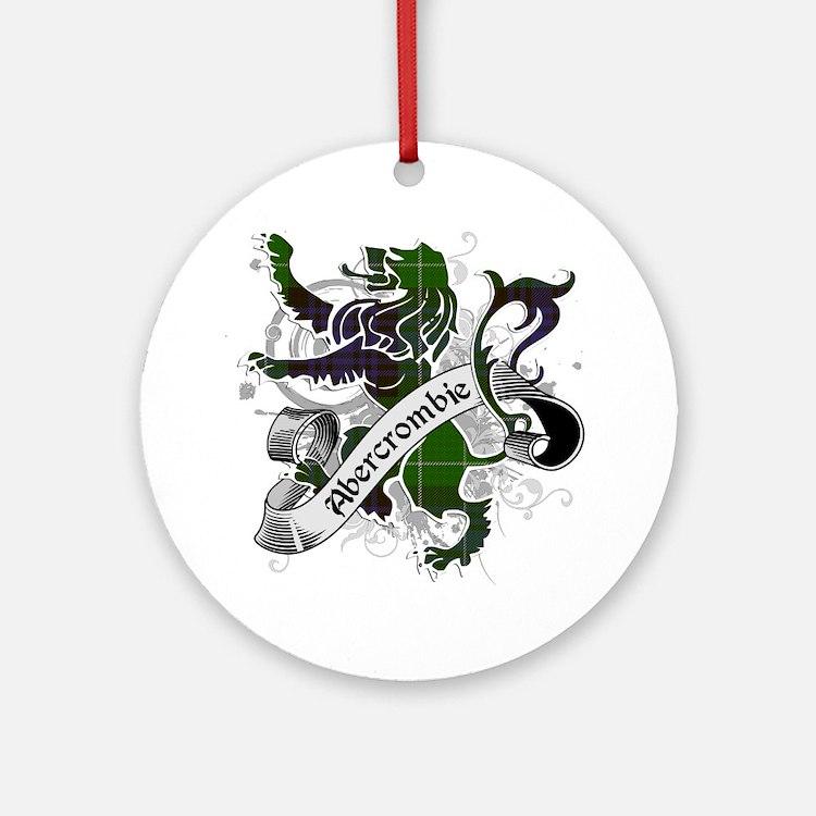 Abercrombie Tartan Lion Ornament (Round)