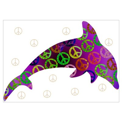 Dolphin Peace - Wednesday Poster