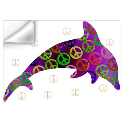 Dolphin Peace - Wednesday Wall Decal
