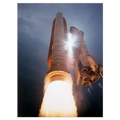 Atlantis Launch Framed Print