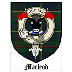 Macleod Clan Crest Tartan Poster