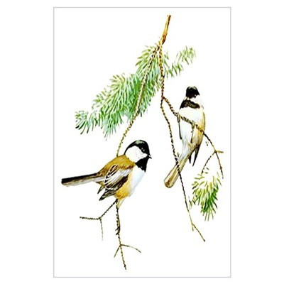 Chickadee Art Poster