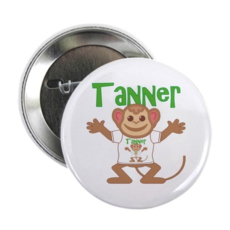 "Little Monkey Tanner 2.25"" Button"