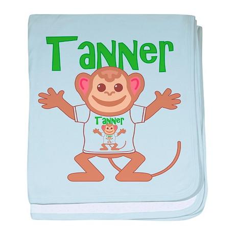 Little Monkey Tanner baby blanket