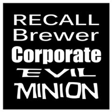 Recall Governor Brewer Poster