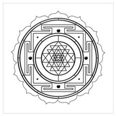 Sri Yantra Design Framed Print