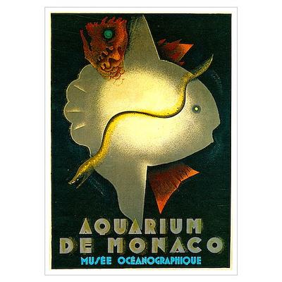 Aquarium De Monaco Fish Poster