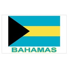 Bahamian Flag (labeled) Poster