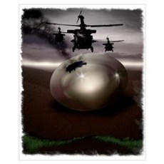 Unmarked Helicopters Canvas Art