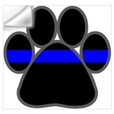 Blue Line K9 Paw Wall Decal