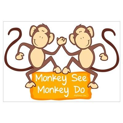 Monkey See Framed Print