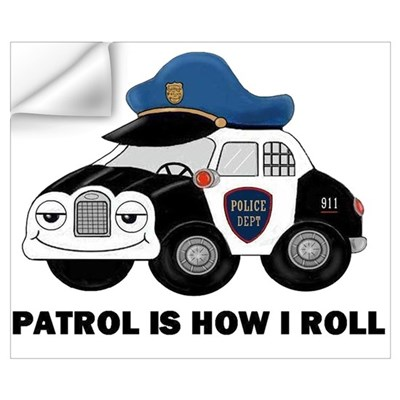 Police Car Wall Decal