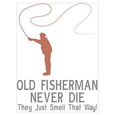 Old Fisherman Never Die Poster