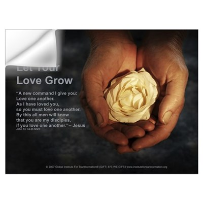 Let Your Love Grow - Framed Wall Decal