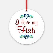Love My Fish Ornament (Round)