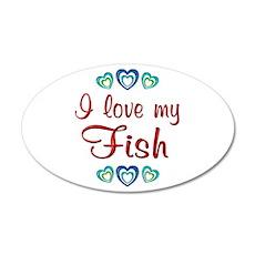 Love My Fish 38.5 x 24.5 Oval Wall Peel