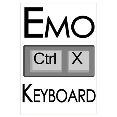 Emo Keyboard Canvas Art