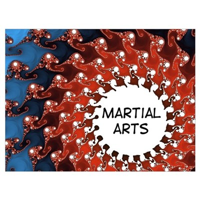 Martial Arts Sun Poster