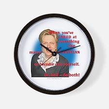 Billary Clinton Wall Clock