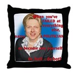 Billary Clinton Throw Pillow