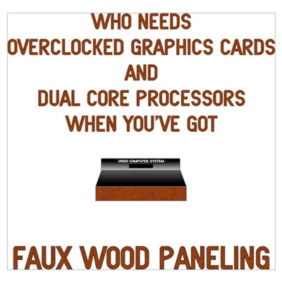 Faux Wood Power Poster