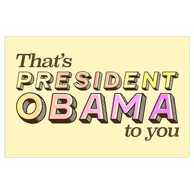 Retro President Obama (Large) Poster