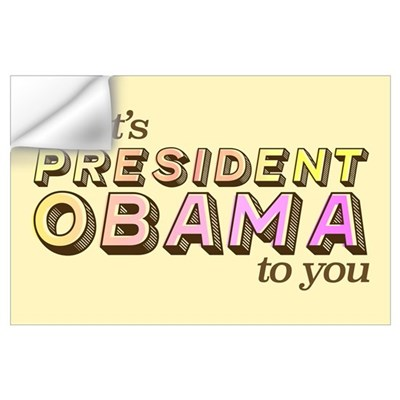 Retro President Obama (Large) Wall Decal