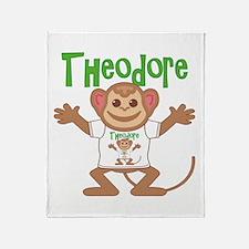 Little Monkey Theodore Throw Blanket