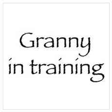 Granny in training Framed Print