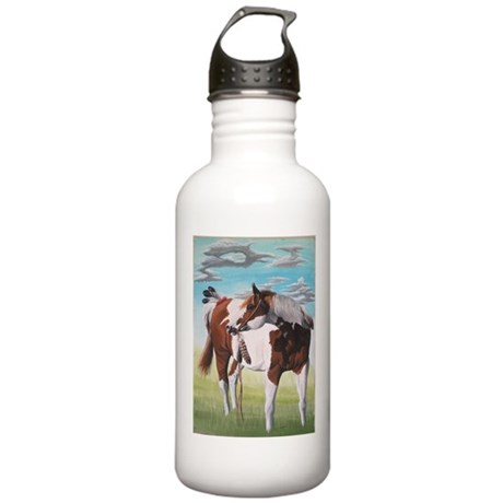 native american paint horse Stainless Water Bottle