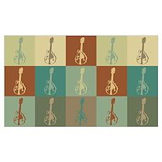 Mandolin Pop Art Poster