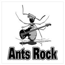 Ants Rock Poster