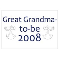 Great Grandma-to-Be 2008 Canvas Art