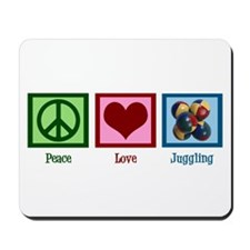 Peace Love Juggling Mousepad