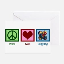 Peace Love Juggling Greeting Card