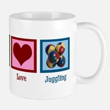Peace Love Juggling Mug