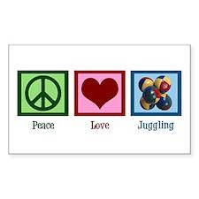 Peace Love Juggling Decal