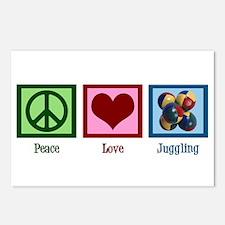 Peace Love Juggling Postcards (Package of 8)