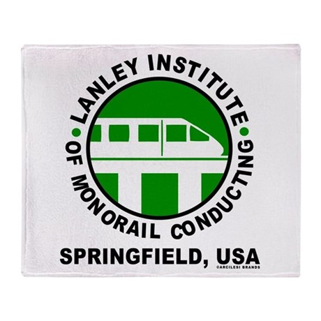 Lanley Monorails Throw Blanket